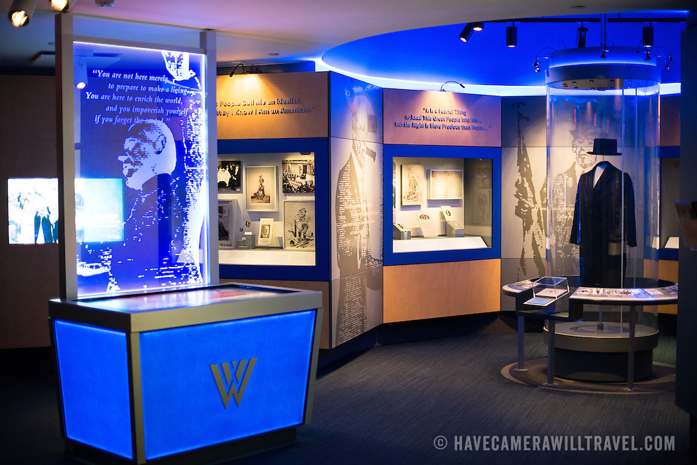 The learning center at the Woodrow Wilson Presidential Memorial Exhibit and Learning Center in the Ronald Reagan Building in downtown Washington DC. The Memorial commemorates the 28th American president.