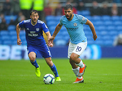 September 22, 2018 - Cardiff City, England, United Kingdom - Sergio Aguero of Manchester City in action during the Premier League match between Cardiff City and Manchester City at Cardiff City Stadium,  Cardiff, England on 22 Sept 2018. (Credit Image: © Action Foto Sport/NurPhoto/ZUMA Press)