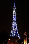 Eiffel Tower in Blue, Paris, France