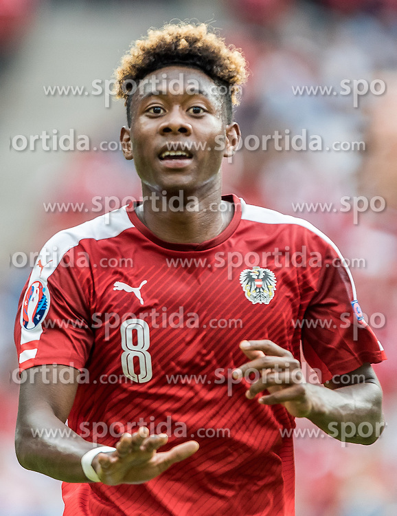 23.06.2016, Stade de France, St. Denis, FRA, UEFA Euro 2016, Island vs Oesterreich, Gruppe F, im Bild David Alaba (AUT) // David Alaba (AUT) during Group F match between Iceland and Austria of the UEFA EURO 2016 France at the Stade de France in St. Denis, France on 2016/06/23. EXPA Pictures © 2016, PhotoCredit: EXPA/ JFK