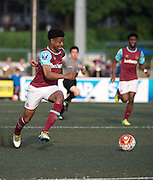 HKFC Citibank Soccer sevens Cup final Aston Villa vs West Ham United. Aston Villa take the cup. JAHMAL HECTOR-INGRAM in action