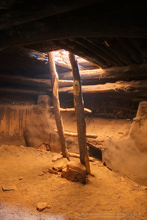 Inside Perfect Kiva Site, Bullet Canyon, Grand Gulch Primitive Area, Cedar Mesa Utah Bears Ears National Monument
