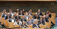 Nederland. Den Haag, 26 oktober 2010.<br /> De Tweede Kamer debatteert over de regeringsverklaring van het kabinet Rutte.<br /> PVV fractie met Sharpe en Lucassen<br /> Kabinet Rutte, regeringsverklaring, tweede kamer, politiek, democratie. regeerakkoord, gedoogsteun, minderheidskabinet, eerste kabinet Rutte, Rutte1, Rutte I, debat, parlement<br /> Foto Martijn Beekman