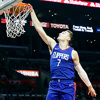 13 January 2018: LA Clippers forward Sam Dekker (7) goes for the dunk during the LA Clippers 126-105 victory over the Sacramento Kings, at the Staples Center, Los Angeles, California, USA.