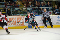 KELOWNA, CANADA, DECEMBER 3: Tyson Baillie #24 of the Kelowna Rockets skates on the ice as the Prince George Cougars visit the Kelowna Rockets  on December 3, 2011 at Prospera Place in Kelowna, British Columbia, Canada (Photo by Marissa Baecker/Shoot the Breeze) *** Local Caption ***