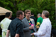 Guests attend the Mr. Hollywood Events Launch Party Luau on June 22, 2019 in West Hollywood, California (Photo: Charlie Steffens)