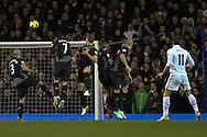 Picture by David Horn/Focus Images Ltd +44 7545 970036.28/11/2012.Gareth Bale of Tottenham Hotspur scores Tottenham's second goal during the Barclays Premier League match at White Hart Lane, London.