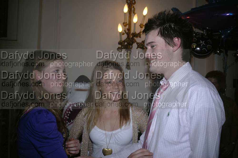 Molly Whitehall, Pandora Morris and Jack Whitehall, Book launch for 'Shark Infested Waters' by Michael Whitehall. Belgrave Sq. London. 12 June 2007.  -DO NOT ARCHIVE-© Copyright Photograph by Dafydd Jones. 248 Clapham Rd. London SW9 0PZ. Tel 0207 820 0771. www.dafjones.com.