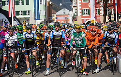 16.04.2013, Hauptplatz, Lienz, AUT, Giro del Trentino, Etappe 1, Lienz nach Lienz, im Bild Faeture, Startaufstellung, Uebersicht // during stage 1, Lienz to Lienz of the Giro del Trentino at the Hauptplatz, Lienz, Austria on 2013/04/16. EXPA Pictures © 2013, PhotoCredit: EXPA/ Johann Groder