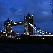Tower Bridge on 29 November 2018,London, UK