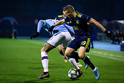 Nicolas Otamendi of Manchester City and Mislav Oršić of Dinamo Zagreb  during football match between GNK Dinamo Zagreb and Manchester City in 6th Round of UEFA Champions league 2019/20, on December 11, 2019 in Maksimir, Zagreb, Croatia. Photo by Blaž Weindorfer / Sportida
