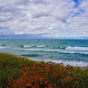 """Colors of Maple on Lake Superior"" <br />