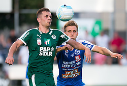 29.07.2016, Gernot Langes Stadion, Wattens, AUT, 2. FBL, WSG Wattens vs Floridsdorfer AC, 2. Runde, im Bild v.l.n.r.: Benjamin Pranter (WSG Wattens) und Mario Kröpfl (Floridsdorfer AC) // during second Austrian Bundesliga 2nd round match between WSG Wattens and Floridsdorfer AC, at the Gernot Langes Stadion in Wattens, Austria on 2016/07/29. EXPA Pictures © 2016, PhotoCredit: EXPA/ Jakob Gruber