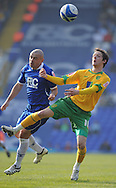 Birmingham - Saturday March 21st, 2009: Stephen Carr of Birmingham City and Dave Mooney of Norwich City during the Coca Cola Championship match at St Andrews, Birmingham. (Pic by Alex Broadway/Focus Images)