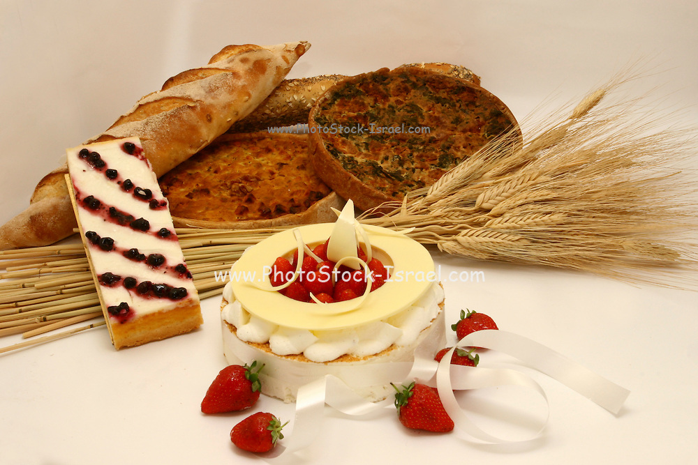Baked cheese cake The traditional Dairy meal of Shavuot (or Shavuos)