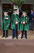 'Greencoats'  wearing uniform made from Queen Anne's curtains. Royal Ascot Race meeting Ascot at York. Wednesday, 15 June 2005. ONE TIME USE ONLY - DO NOT ARCHIVE  © Copyright Photograph by Dafydd Jones 66 Stockwell Park Rd. London SW9 0DA Tel 020 7733 0108 www.dafjones.com