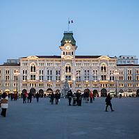 Piazza dell'Unità in Trieste, Italy