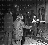 Scenes of the aftermath of the IRA terrorist bombing of the Seven Stars pub in Guildford, Surrey on October 5th 1974. Photograph by Terry Fincher