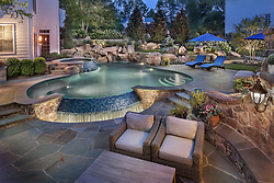 Back yard in ground pool