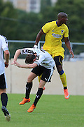 AFC Wimbledon striker Tom Elliott (9) during the Pre-Season Friendly match between Dover Athletic and AFC Wimbledon at Crabble Athletic Ground, Dover, United Kingdom on 12 July 2016. Photo by Stuart Butcher.