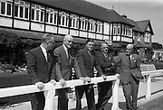 31/7/1964<br /> 07/31/1964<br /> 31 July 1964<br /> <br /> (L-R)Mr John Wylie (sec. Executive Committee), Dr Brendan Senior, Mr James Meanan(Chair Executive Committee), Mr. Fred Langan(Hon.Sec.) and Mr. Mark Leonard (Chairman of Committee of Agriculture) viewing the grounds at R.D.S Ballsbridge