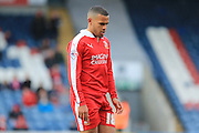 Louis Thompson sent off during the Sky Bet League 1 match between Rochdale and Swindon Town at Spotland, Rochdale, England on 30 April 2016. Photo by Daniel Youngs.