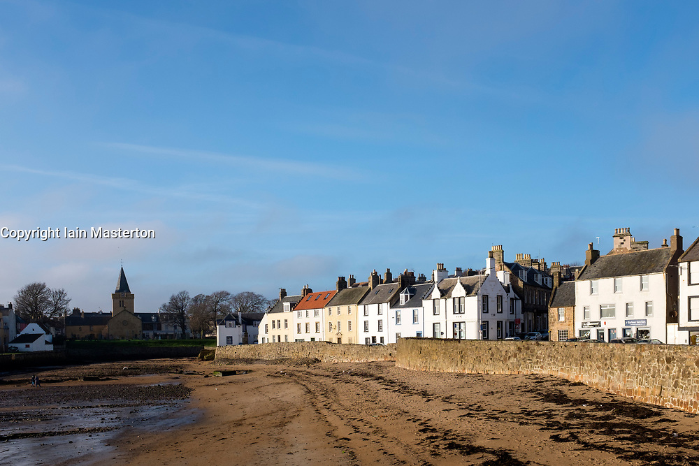 Historic fishing village of Anstruther in East Neuk of Fife in Scotland, United Kingdom