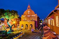 Malaisie, état de Malacca, Malacca, Centre historique, patrimoine Mondial de l'Unesco, l'eglise du Christ - 1753 // Malaysia, Malacca state, Malacca, Unesco Wold Heritage, Christ Church, 1753