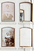 1900s broken photo album with missing images