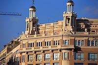 Impressive architecture in the Placa de Catalunya in Barcelona, Spain