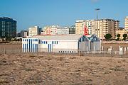 The sandy Atlantic Ocean beach at Figueira da Foz, Portugal