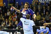 Borut Mackovsek  / Romaric Guillo - 05.03.2015 - Montpellier / Cesson Rennes - 17eme journee de Division 1<br />Photo : Andre Delon / Icon Sport