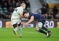 Rugby Union - 2017 Varsity Match - Oxford University vs. Cambridge University<br /> <br /> Ollie Phillips of Cambridge at 35 ( Ex Sale, Newcastle and Gloucester player),takes on Oxford's ----- at Twickenham.<br /> <br /> COLORSPORT/ANDREW COWIE