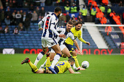 West Bromwich Albion defender Kyle Bartley (5)  clears up this attack during the EFL Sky Bet Championship match between West Bromwich Albion and Blackburn Rovers at The Hawthorns, West Bromwich, England on 27 October 2018.