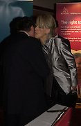 Colin Lowe and Joanna Trollope. 70th anniversary of the RNIB Talking `book service. Arts Club. Dover St. London.  8 November 2005 . ONE TIME USE ONLY - DO NOT ARCHIVE © Copyright Photograph by Dafydd Jones 66 Stockwell Park Rd. London SW9 0DA Tel 020 7733 0108 www.dafjones.com