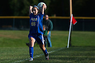 during the girls soccer game between the Milton Yellowjackets and the Rice Green Knights at Rice Memorial High School on Saturday afternoon October 3, 2015 in South Burlington. (BRIAN JENKINS/ for the FREE PRESS)