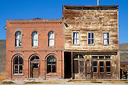 The Dechambeau Hotel and Odd Fellows Lodge on Main Street, Bodie State Historic Park (National Historic Landmark), California