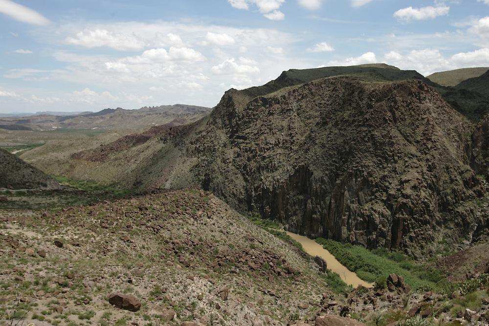 The Rio Grande as seen between Presidio and Lajitas