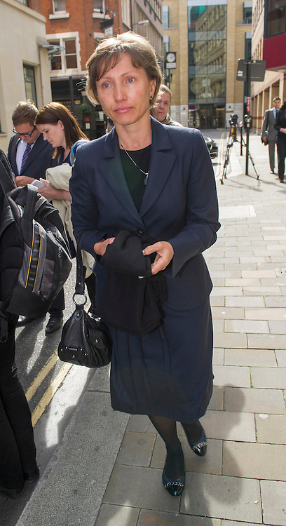 Marina Litvinenko arriving at the Pre-inquest hearing into the death of former KGB agent Alexander Litvinenko who was poisoned with polonium-210 radiation in London,September 20, 2012. Photo by i-Images