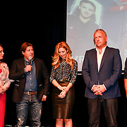 NLD/Amsterdam /20130418 - Perspresentatie X-Factor 2013, Angela groothuizen, Martijn Krabbe, Candy Dulfer, Gordon, Ali B