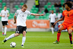 Nico Brandenburger of Germany and Nathan Ake of Netherlands during the UEFA European Under-17 Championship Final match between Germany and Netherlands on May 16, 2012 in SRC Stozice, Ljubljana, Slovenia. (Photo by Urban Urbanc / Sportida.com)