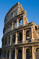 The Colosseum or Coliseum, originally the Flavian Amphitheatre (Latin: Amphitheatrum Flavium, Italian Anfiteatro Flavio or Colosseo), is an elliptical amphitheatre in the centre of the city of Rome, Italy, the largest ever built in the Roman Empire.  Rome, Italy November 30, 2007.