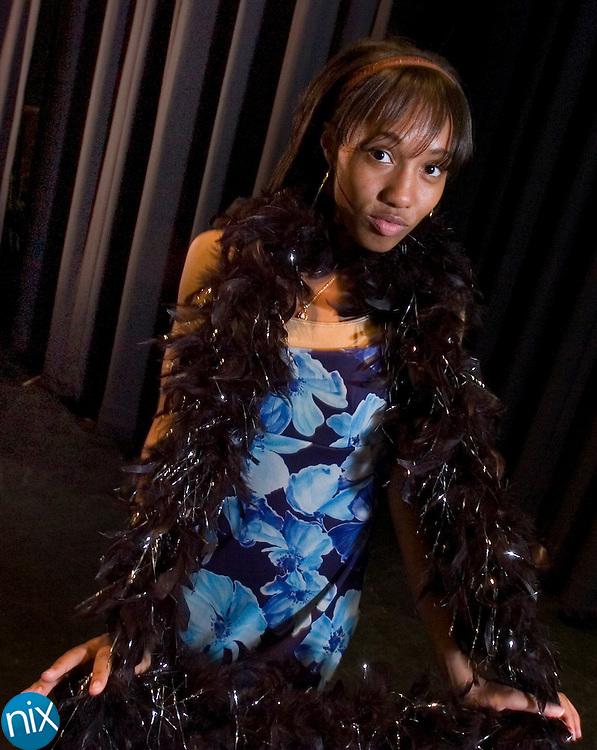 "Dominique De'Monaco, played by Concord High School junior Kayla Smith in ""Luck Stiff."""