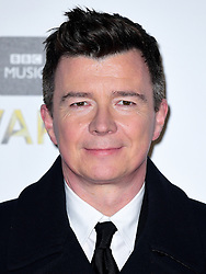 Rick Astley attending the BBC Music Awards at the Royal Victoria Dock, London. PRESS ASSOCIATION Photo. Picture date: Monday 12th December, 2016. See PA Story SHOWBIZ Music. Photo credit should read: Ian West/PA Wire