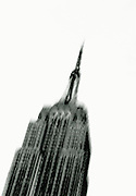 Image of the Empire State building in New York City, New York (toned black & white conversion)