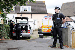 © Licensed to London News Pictures. 12/09/2013. Police carry out searches following a Raid on a property in Stone, Dartford in connection with Claire Tiltman MURDER 20 YEARS AGO.  Miss Tiltman was stabbed to death in an alleyway off the A226 London Road in Greenhithe, four days after her 16th birthday in 1993.  Photo credit :Grant Falvey/LNP