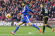 Middlesbrough FC Goalkeeper Dimitrios Konstantopoulos (1) kicks the ball up field during the Sky Bet Championship match between Middlesbrough and Nottingham Forest at the Riverside Stadium, Middlesbrough, England on 23 January 2016. Photo by George Ledger.