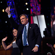 Former Virginia (VA) Gov. Mark Warner speaks on the second day of the Democratic National Committee (DNC) Convention at the Pepsi Center in Denver, Colorado (CO) Tuesday, Aug. 26, 2008.  ..Photo by Khue Bui