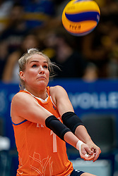 04-08-2019 ITA: FIVB Tokyo Volleyball Qualification 2019 / Netherlands, - Italy Catania<br /> last match pool F in hall Pala Catania between Netherlands - Italy for the Olympic ticket. Italy win 3-0 and take the ticket to the Olympics / Kirsten Knip #1 of Netherlands