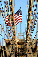 Flag on Brooklyn Bridge